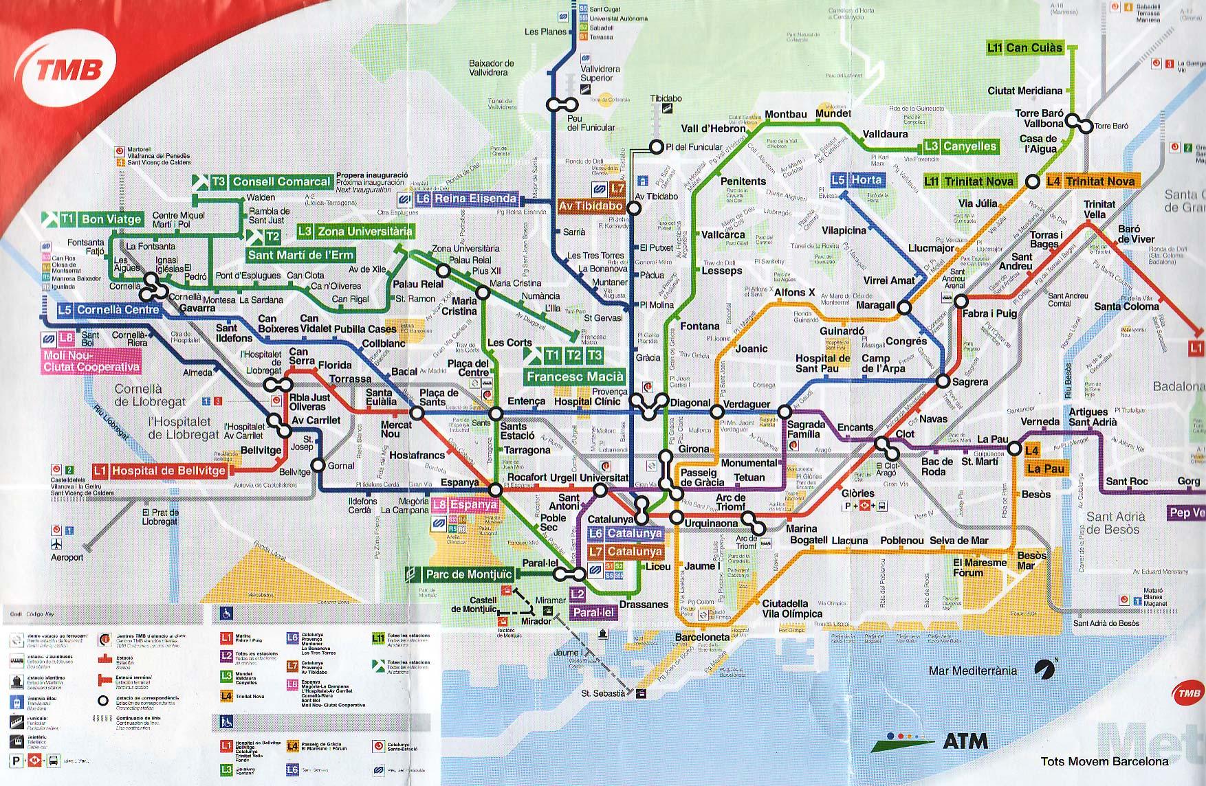 Aeroporto Di Barcellona Mappa Barcellona Come Raggiungere Il Centro